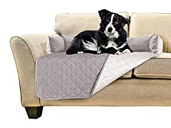 FURHAVEN SOFA BUDDY REVERSIBLE FURNITURE PROTECTORProtecting your couch and providing a comfortable space for your companion to rest, the Sofa Buddy Pet Bed Furniture Cover is the answer to damaged upholstery and undesired pet hair! This dog ...