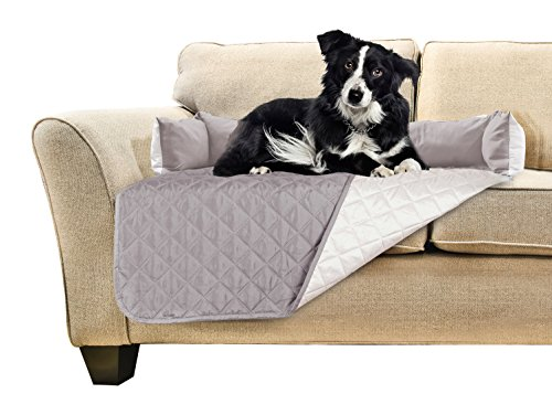 FurHaven Pet Furniture Cover | Sofa Buddy Reversible Furniture Cover Protector Pet Bed for Dogs & Cats, Gray/Mist, Medium