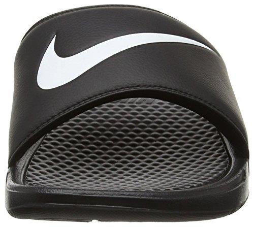 Nike Benassi Swoosh - Chanclas para Hombre Negro (Black / White)