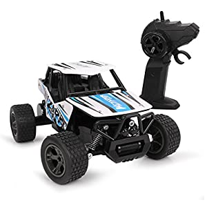 RC Cars, 2.4Ghz Radio Controlled Off-Road Car Electric High Speed Waterproof Surprise Gift for Kids and Adults (New Blue)