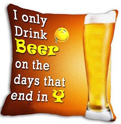 UniqueType Funny A Bottle Of Beer Bubbles Drink Beer Throw Pillow Cases For 14X14 16X16 18X18 20X20 24X24 Inch Nice Cushion