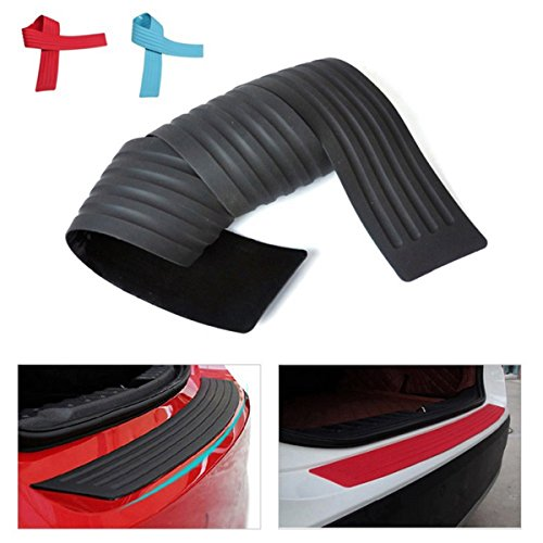 AZQKJ Universal Car Rubber Rear Guard Bumper Protector Trim Cover, Car Sticker Protector Kit-35 inch(Black)