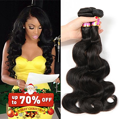 Price comparison product image Bobofun Peruvian Body Wave 4 Bundles (20 22 24 26) 8A Peruvian Virgin Hair Bundle Deals Real Human Hair Extensions Curly Wavy Hair Loose Body Wave Bundles Natural Color