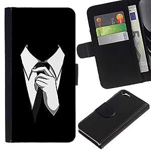 """Be-Star la tarjeta de Cr¨¦dito Slots PU Funda de cuero Monedero caso cubierta de piel Para Apple (4.7 inches!!!) iPhone 6 / 6S ( Traje del lazo del hombre del estilo de vestimenta formal Negro Blanco"""" )"""
