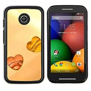 For Motorola Moto E Case , Amor Amber Love- Diseño Patrón Teléfono Caso Cubierta Case Bumper Duro Protección Case Cover Funda