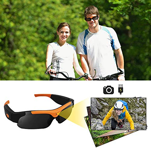 16GB 1080P HD Hidden Camera Sunglasses Action Video Recorder, Support Photo Taking Function, UV400 Polarized Lens