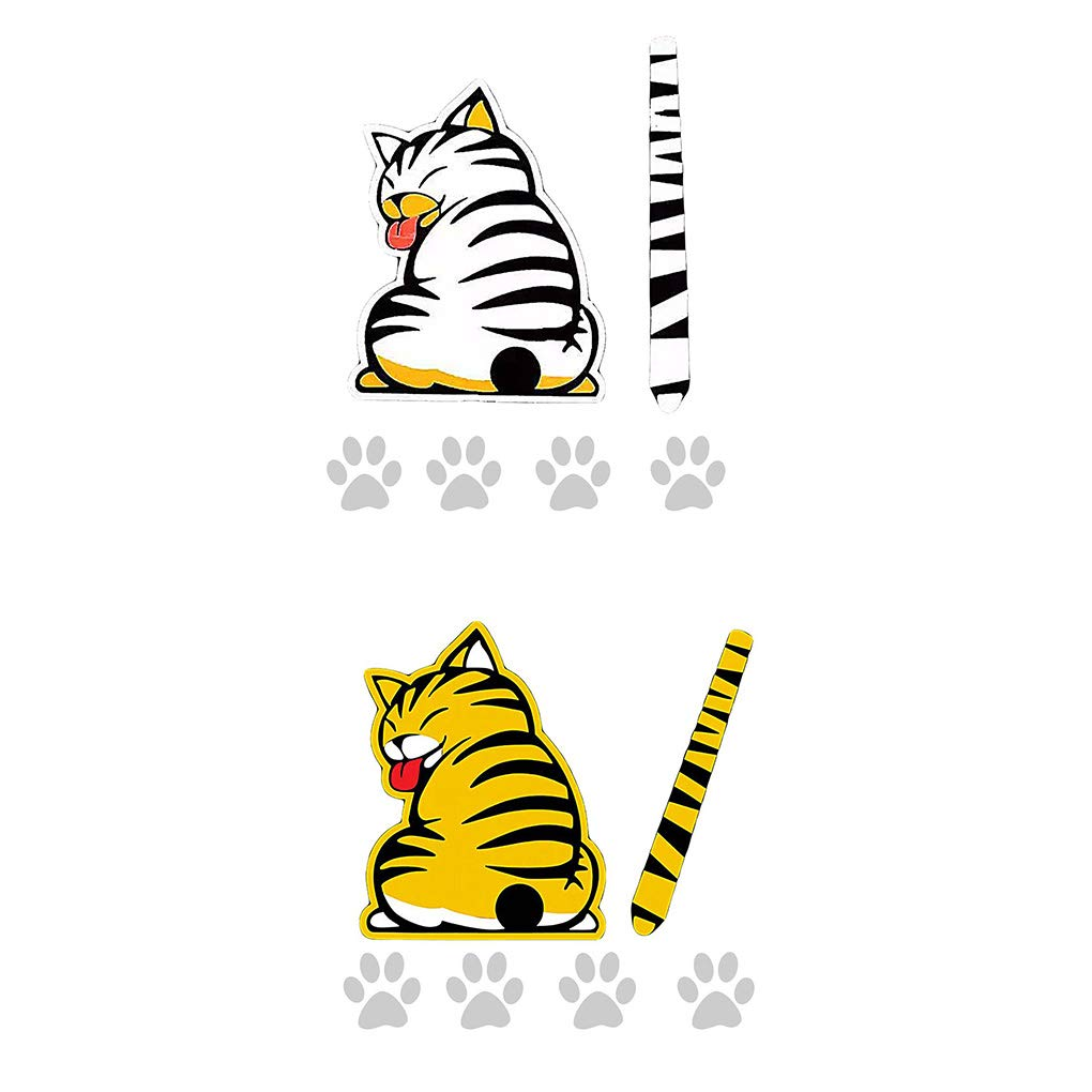 UHAoo Movable Modello Cat Accessori per Auto Animale Tergilunotto Autoadesivo Autoadesivo della Decalcomania di Arte del Tatuaggio Decorativi