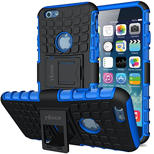 ykooe Case for iPhone 6S Phone Case, iPhone 6 Case [Heavy Duty] Tough Dual Layer Hybrid Silicon Protective Cover Armor with Kickstand for iPhone 6 / 6S (4.7