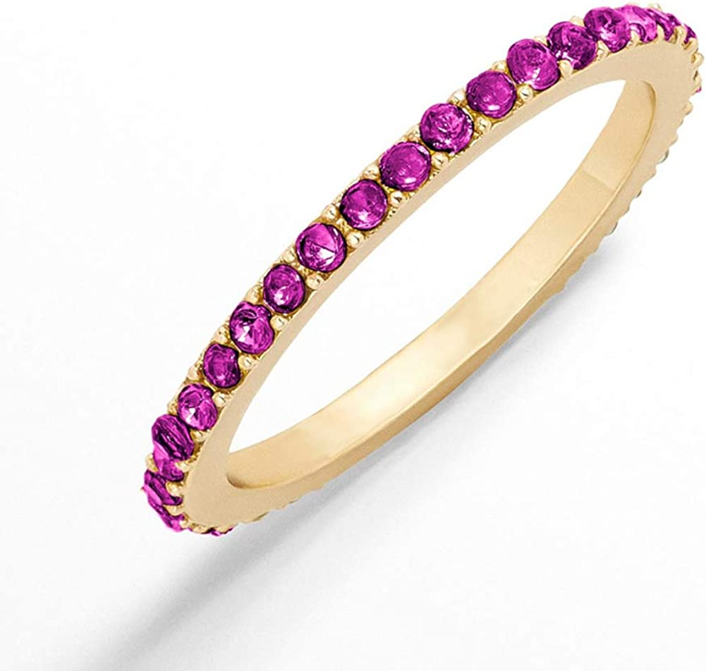 5 PCS Womens Rainbow Stackable Rings Colorful Cubic Zirconia Finger Jewelry for Girls