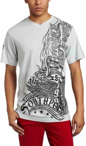 dd8c421ec6d69f Southpole Men s Glitter with Screen Print T-Shirt