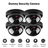 MOHAK 4 Pcs Dummy CCTV Dome Camera with blinking red LED light. For home or office Security