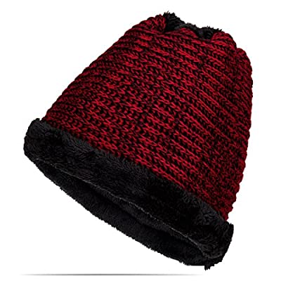 TheFine Unisex Winter Warm Knitted Beanie Multifunction Scarf Hat