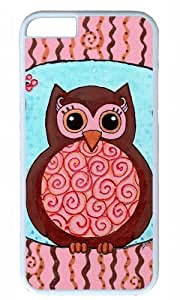 Cute owl animal cartoon Easter Thanksgiving Masterpiece Limited Design PC White Case for iphone 6 by Cases & Mousepads wangjiang maoyi