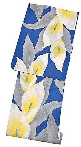 ハンマー醸造所不機嫌そうな[ KIMONOMACHI ] オリジナル 浴衣単品「紺色 カラーの花」