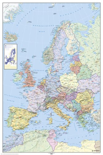 map of europe in german language huge laminated poster