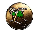 Heads Tails Challenge Coin Good Luck Commemorative