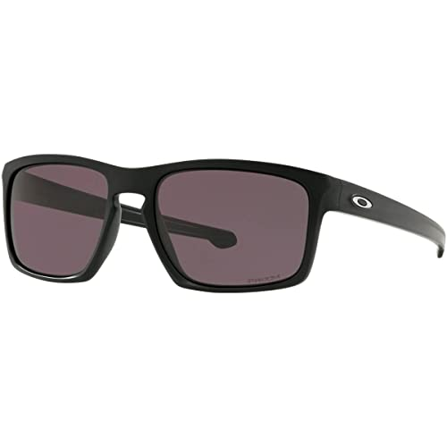 c1ff6c758597 Oakley Men's Sliver Non-Polarized Iridium Rectangular Sunglasses, Matte  Black, ...