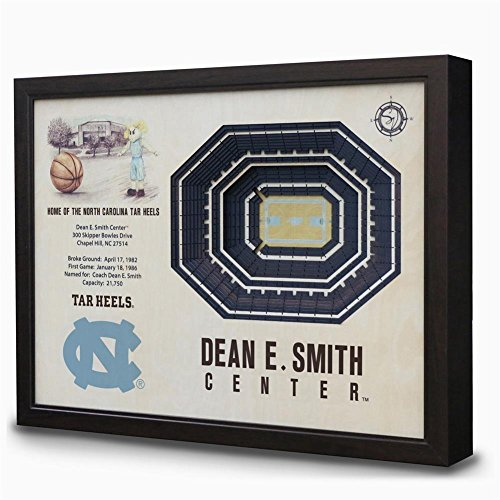 NCAA North Carolina Tar Heels - Dean E. Smith Center Stadiumview Wall Art, One Size, Birch Wood by Sportula