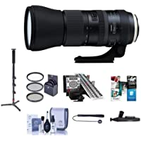 Tamron SP 150-600mm F/5-6.3 Di VC USD G2 Lens for Canon DSLRs - Bundle with 95mm Filter Kit, Cleaning Kit, Lenspen Lens Cleaner, Capleash, LensAlign MkII Focus Calibration, Monopod, Software Package