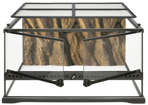 Hagen Exo Terra Short All Glass Terrarium, 24 by 18 by 12-Inch