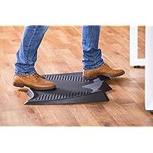 Batmat Standing Desk Mat Ergonomic Not-Flat Anti Fatigue Mat Comfort Floor Mat for Workstations Office (2428, black)