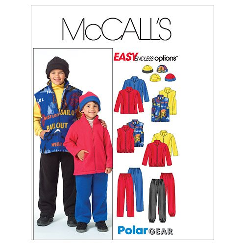 McCall's Patterns M4964 Children's/Boys' Jacket, Vest, Pull-On Pants and Reversible Hat, Size CX (XSM-SML)