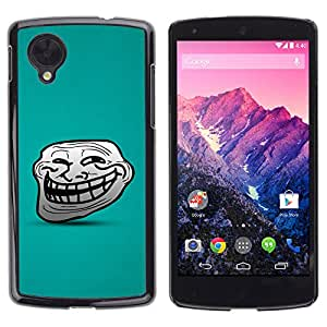 LASTONE PHONE CASE / Carcasa Funda Prima Delgada SLIM Casa Carcasa Funda Case Bandera Cover Armor Shell para LG Google Nexus 5 D820 D821 / Big Smile Cartoon Face Comic Character Teeth