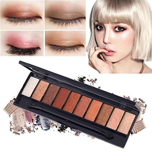 Pro Eyeshadow Palette Big Promotion!ZYooh Luxury Golden Pearl Matte Nude Eyeshadow 10 Colors Halloween Makeup Palette (A)