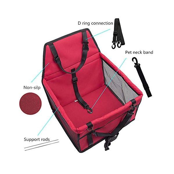 51eSv0fgd L IvyLife Auto-Hundesitz für Kleine Hunde oder Katzen Transporttasche verstellbar aus Oxford-Stoff Wasserdicht…