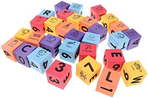 DYNWAVE Ealy番号アルファベット認識おもちゃ用30ピース/個レタービルディングブロックEVAフォーム