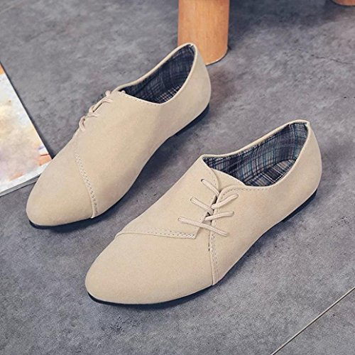 Lace Flats etc Penny Faux Beige Up Loafers School for Women's Shoes Sneakers Moccasins Office Suede Leather Trainer On Clode® Ballet Slip PfI1qI