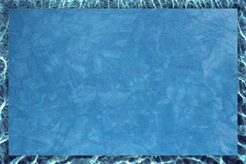 Hand-dyed 11 Count Aida Cloth (DMC/Charles Craft) - 17x19 - Salty Sea (Hand Dyed Cross Stitch Fabric)