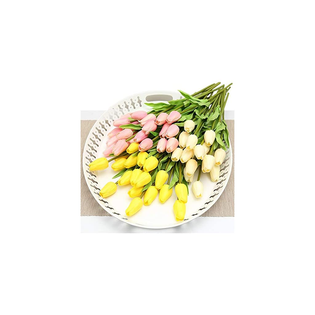 DHmart-30pc-Pu-Tulips-Artificial-Flowers-Real-Touch-Artificial-Succulents-Mini-Tulip-Silk-Flowers-for-Home-Decor-Foam-Flowers