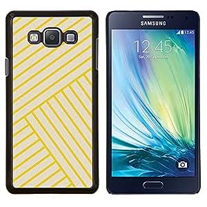 Dragon Case - FOR Samsung Galaxy A7 - yellow golden tiles yellow bling lines - Caja protectora de pl??stico duro de la cubierta Dise?¡Ào Slim Fit