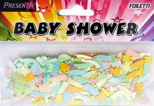 Confetti 14g Pack - BABY SHOWER CHRISTENING FOILETTI - FOIL CONFETTI 14g PACK - SCATTER ON TABLES! PR2141 by Presenta
