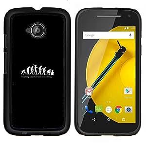 LECELL--Funda protectora / Cubierta / Piel For Motorola Moto E2 E2nd Gen -- Divertido evolución del hombre --