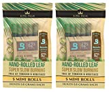 Organic Pre Rolls, Tobacco & Chemical Free, Super Slow Burning, 100% Real Palm Leaf, Just Fill It (10 Minis)