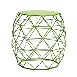 Cheap Homebeez Wire Round Iron Metal Stool Side Table /Coffee Table/Sofa Table (Green)