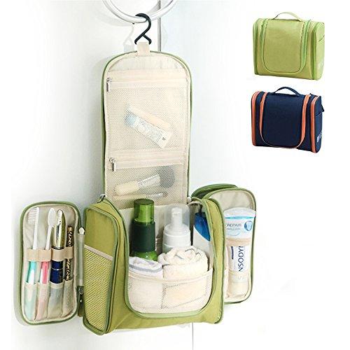 URBANANO WildGrow Travel Multi Compartment Hanging Toiletry Bag Kits for Men, Women (Light Green)