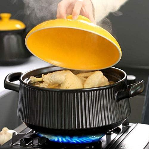 ZJZ Pot en céramique Casserole Pot Pot à ragoût en Terre Cuite Casserole en céramique Résistance aux Hautes températures, Stockage de Chaleur et fraîcheur, 3L