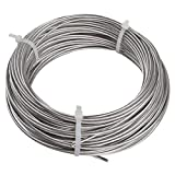 "Yeexue Stainless Steel Aircraft Wire Rope Cable For Railing, Decking, DIY Balustrade, 1/8"", 316 Grade, 1x19, 100ft"