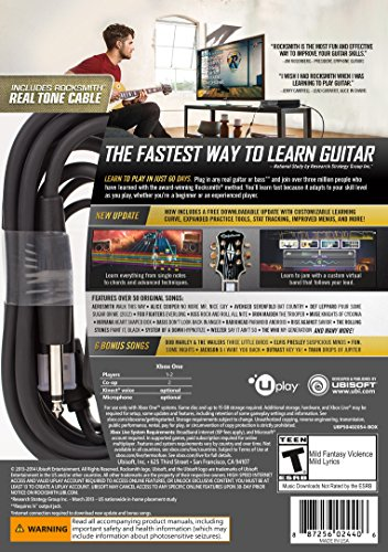 Rocksmith 2014 Edition Remastered - Xbox One Standard Edition 2