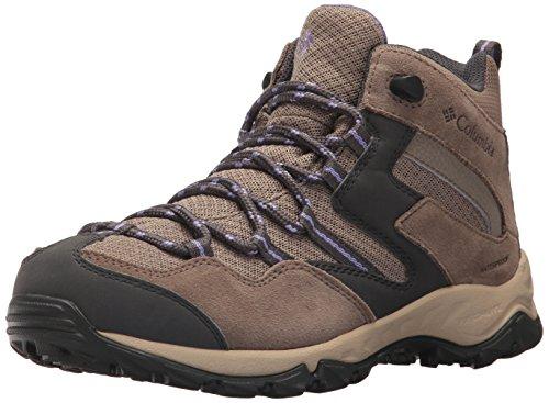 - Columbia Women's Maiden Peak MID Waterproof Calf Boot, Wet Sand, Purple Aster, 9 Regular US