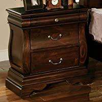 247SHOPATHOME Idf-7503N, nightstand, Walnut