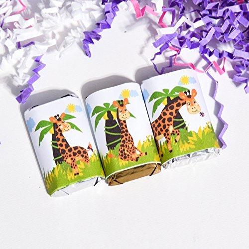 54 Giraffe Birthday Favors Labels, Funny Giraffe Candy Stickers, Giraffe Gift Favors, Giraffe Party Favor - Hershey Candy Wrapper