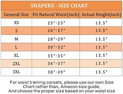 SHAPERX Women 24 Double Steel-Boned Longline Heavy Duty Waist Training Corsets Shaper
