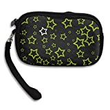 Jimres Womens Wristlet Bag With Zipper Coin Purse Stars Pattern Girls Wallets Clutch Bag Lady Small Wallet Handbag