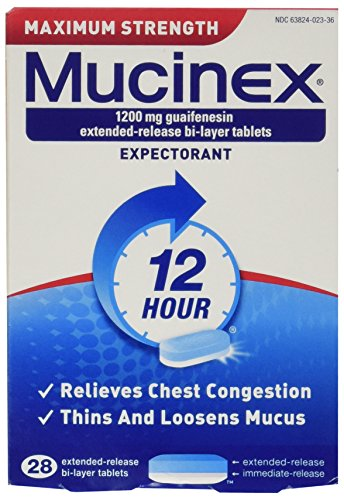 UPC 363824023281, Mucinex Maximum Strength Extended-Release Bi-Layer Tablets, 28 Count