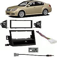 Fits Subaru Legacy 2010-2011 Non-NAV Single DIN Harness Radio Install Dash Kit