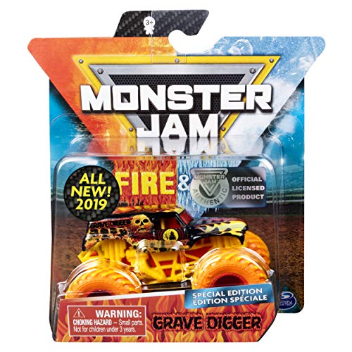 Monster Jam MJ 2019 Fire & Ice Grave Digger Special Edition 1:64 Scale]()